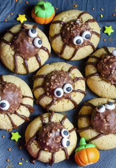 Nobody will be afraid to kill one of these Ferrero Rocher spiders. And by kill, we mean eat (obviously). An added bonus: Putting them together is way easier than it looks. Click through for the recipe and more Halloween cookies your guests will love at this year's Halloween party.