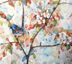 Watercolor Spring Time, Watercolor, Artist, Painting, Ideas, Watercolor Painting, Pen And Wash, Artists, Painting Art