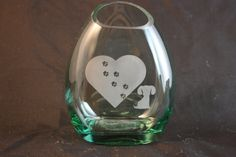 Flower Vase From Upcycled Liquor Bottle by CountryRichDesigns