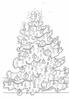 Number coloring pages free printable preschool trees
