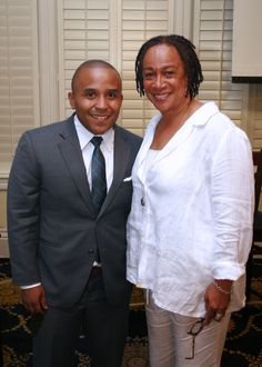 Rashad Robinson (Color of Change) & Dir S. Epatha Merkerson at the 10th MVAAFF