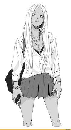 Manga: Senpai x Kouhai Female Character Design, Character Design Inspiration, Character Design, Character Art, Manga Girl, Art Girl, Anime Sketch, Anime Characters, Anime Style