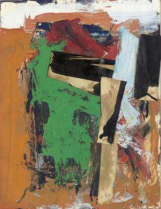 Franz Kline - Untitled (1955) Oil, ink & paper collage on paper