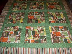 The Monkey Quilt I made for my great nephew!