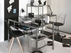 bureau aménagé pour deux