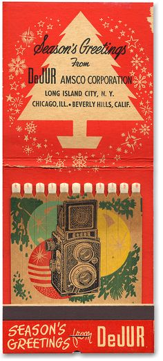 Vintage Christmas #GIANT Lion Match Corp #Matchbook To order your business' own branded #matchboxes or #matchbooks GoTo: www.GetMatches.com or CALL 800.605.7331 Today!