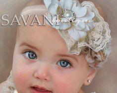 Babi girl headbandLavender pinkaqua Baby by SAVANIboutique on Etsy