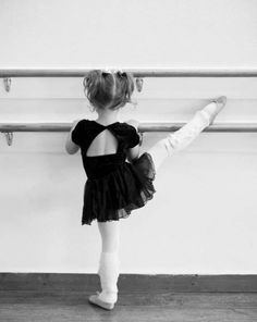 Sweet ballet pose for a little girl, have her turn to the camera so you can see her face as well as this shot.