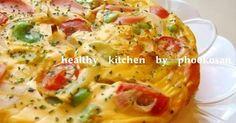 ダイエット中も安心♪豆乳を使いさらに卵白でかさ増し!出来るだけヘルシーな食材で作る簡単キッシュです♪具沢山食べ応え満点♪