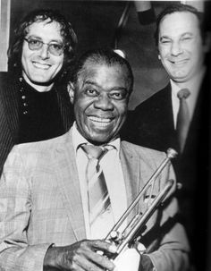 With Hal David and Louis Armstrong (On Her Majesty's Secret Service)