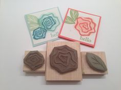 flower stamps carved by Brandi Rood