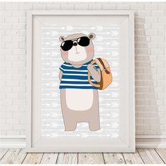 Hipster bear print | hardtofind.