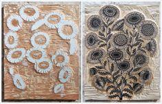 Daisy Bouquet Woodblocks by Tugboat Printshop