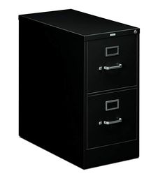 HON Two-Drawer Filing Cabinet- 510 Series Full Suspension Letter File Cabinet, 29 by Black