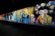 'murakami - ego' the first exhibition of Japanese contemporary artist takashi murakami,  in the middle east.