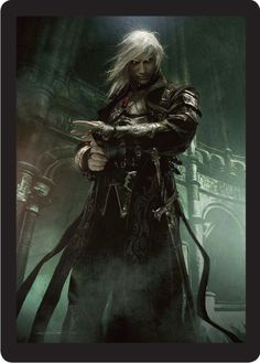 Anomander Rake...(actually it's Sorin Markov from Magic the Gathering)