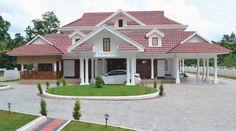 House Balcony Design, House Fence Design, Kerala House Design, Bungalow House Design, Dream House Exterior, Dream House Plans, Dream Houses, Dream Home Design, Home Design Plans