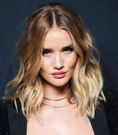 """""""Since I chopped off my locks, I don't blow-dry or fuss as much. Instead I'll air-dry and put a bit of Moroccanoil Dry Shampoo at the roots while my hair is still damp to give it texture,"""" she..."""