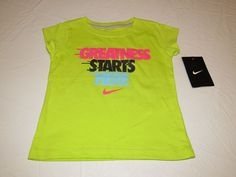 Nike active t shirt girls 2T toddler Greatness Starts Here 262951 265 Cybr NWT^^ #Nike