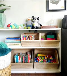 Wooden cubbies inste