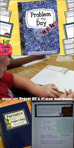 Problem of the Day Journals for Morning Work - Application Problems from Engage NY's Grade Math Modules Math For Kids, Fun Math, Math Activities, Maths, Math Fractions, Multiplication, Math Games, Eureka Math 4th Grade, Fourth Grade Math