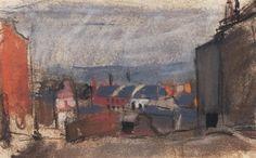 Joan Kathleen Hardy Eardley - Tenements,  5.12 X 8.25 in, pastel.