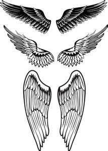 Creative  Beautiful Angel Wings Tattoo Designs