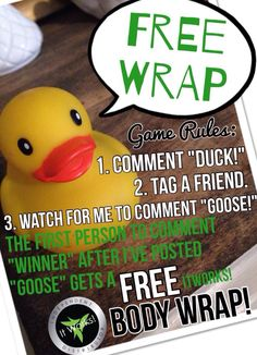 #ONETEAMONEMISSION #ItWorks! FREE WRAP tag game!