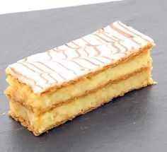 """""""millefeuille"""", traditional pastry of sunday lunch, Baking Recipes, Dessert Recipes, Cake Recipes, French Patisserie, French Pastries, Mini Desserts, Eclairs, Yummy Cakes, No Bake Cake"""