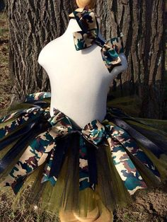 Camo Tutu With Hair Bow  Shop now at https://tulleddreamers.com