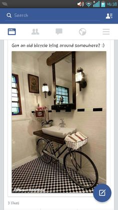 Got an old bicycle laying around? Put it to good use with this beautiful idea <3