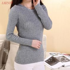 2016 New winter Cashmere Sweater knit sweater O-neck sweater women cultivating long-sleeved pullover Fashion wild