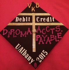 What a wicked way to decorate a cap graduation caps for Accounting graduation cap decoration