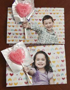 #DIY fotokaart voor #Moederdag! Maak eerst de foto en plak er later een mooie lolly (of bloem!) op.