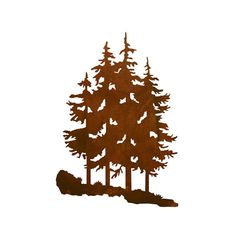 Pine Tree Forest Laser Cut Wall Art Mural by CabinExclusive
