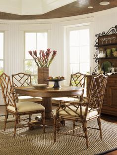 Tigris Side Chair And Cabria Natural Cushion In Dining Chairs Alluring Tropical Dining Room Chairs Inspiration Design