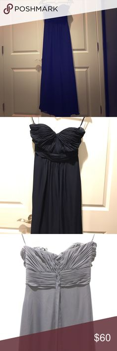 Navy blue gown dress This was my prom dress, it has minor damages and of course was only used one night. Dresses Prom