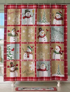 Snowman Shower Curtain . . .