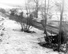 Armed with a bazooka, a paratrooper of the 101st Airborne is on guard for German tanks on the road leading to Bastogne, Belgium - 23 December 1944