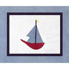 Ships ahoy! The whimsical sailboat in this hand-tufted rug brings a touch of the seashore into your home. The rug's cotton-yarn construction, nonskid backing and versatile, 30-inch x 36-inch size make it a great choice for your bedroom or bath.