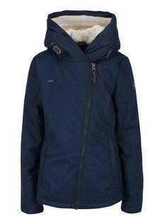 Modrá dámská voděodolná bunda s kapucí a kapsami Ragwear Gordon Hooded Jacket, Athletic, Zip, Jackets, Fashion, Jacket With Hoodie, Down Jackets, Moda, Athlete