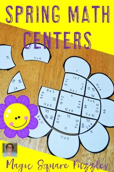 Are you looking for multiplication math centers to help your students master their basic math facts this spring? Look no further! These multiplication math centers is perfect for your 3rd and 4th grade students. Use them for test prep, review, early or fast finishers, critical thinking skills, or math centers. Your students will love this hands-on, engaging way to practice their basic facts. Plus you get three different puzzles!Third and fourth grade teachers will both love these! $