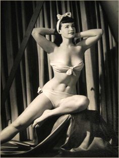 Bettie Page was one of the first pinup girls of all time!!  Loved her look!