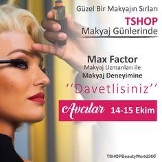 Max Factor makyaj deneyimine ne dersiniz ?     Tüm etkinliklerimiz , indirim kampanya ve size özel fırsatlar için www.tshop.com.tr adresimizi ziyaret edebilirsiniz.  #kendinegüzelbak #kampanya #indirim #tshopetkinlik