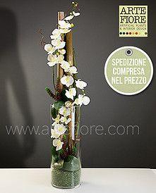 Orchid Flower Arrangements, Flower Arrangement Designs, Ikebana Flower Arrangement, Artificial Flower Arrangements, Artificial Flowers, Amarillis, Plant Projects, Flower Quotes, Arte Floral