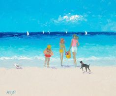 Beach painting, Beach decor, beach painting, beach house style, coastal living, beach home interiors, beach house decorating, summer vacation, coastal decor.