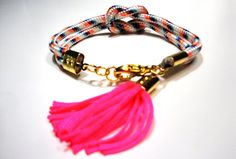Climb rope bracelet with tassel