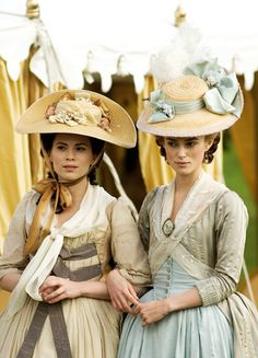 Lady Elizabeth 'Bess' Foster and Georgiana Cavendish, Duchess of Devonshire - Hayley Atwell and Keira Knightley in The Duchess, set in the late 18th century (2008).