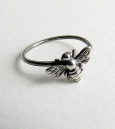 Bee Sterling Silver Ring