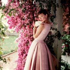 1955 Audrey Hpeburn wearing Givenchy, photographed by Norman Parkinson